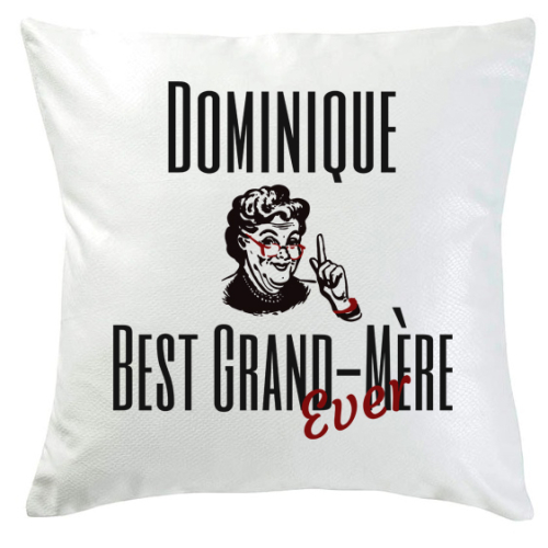 Coussin best grand-mère ever