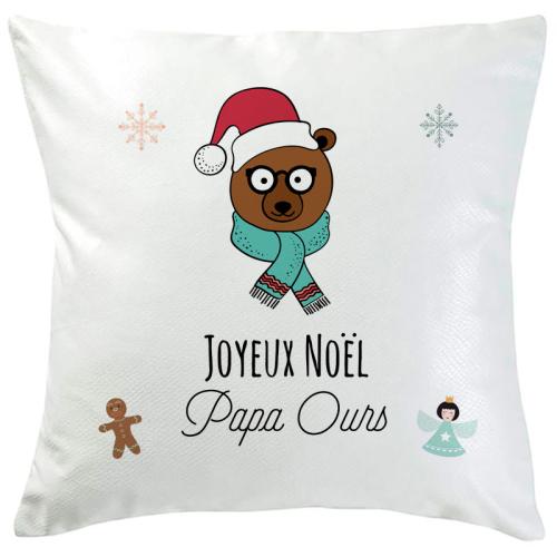 Coussin de Noël ours