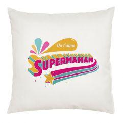 Coussin Super Maman personnalisé prénom