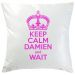 Coussin Keep Calm fuschia