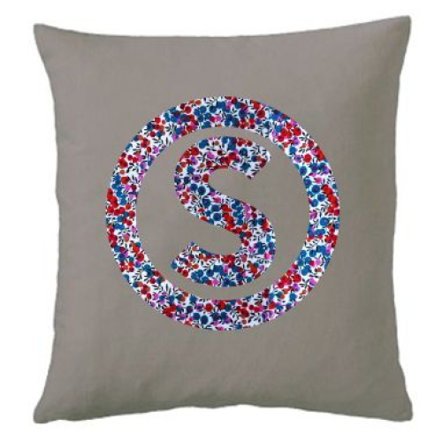 Coussin liberty cercle rouge