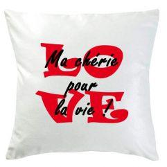 Coussin personnalisé Love