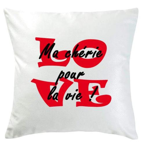 Coussin Love personnalisé