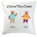 Coussin famille ours 2 personnes