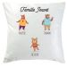 Coussin famille ours 3 personnes