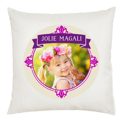 Coussin photo cadre royal