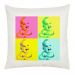 Coussin photo personnalisé pop art 4 photos