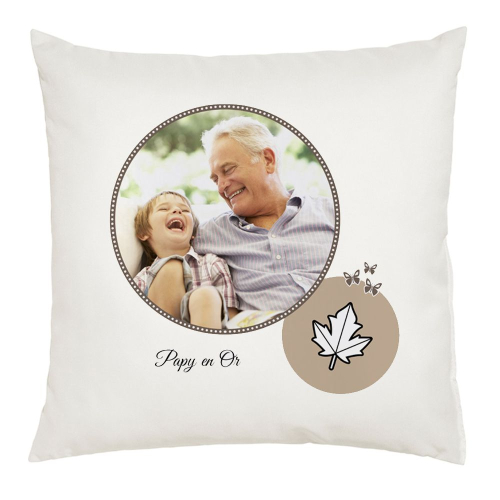Coussin photo pour papy