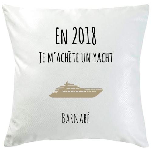 Coussin bonnes résolution yacht