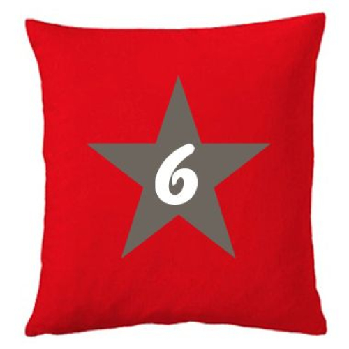 Coussin etoile rouge