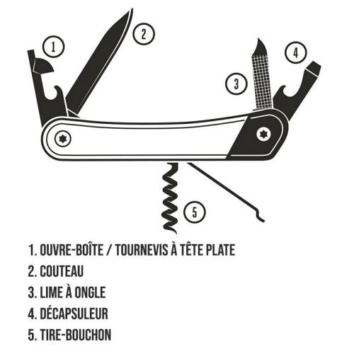 Couteau multifonction Gentlemen's Hardware personnalisé