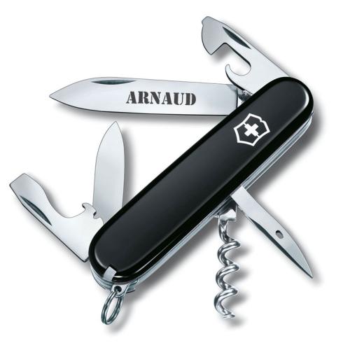 Couteau suisse Spartan noir personnalisé