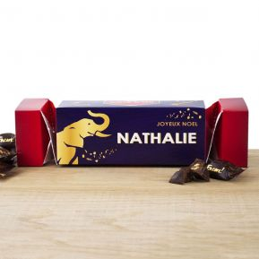 Cracker box de chocolats Noirs Côte d'Or personnalisé Noël