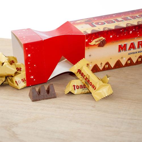 Cracker box de Mini Toblerone personnalisé Noël