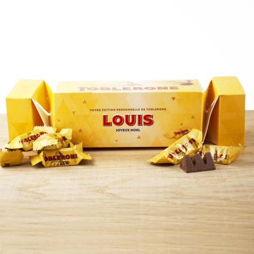 Cracker box de Mini Toblerone personnalisé Sapin