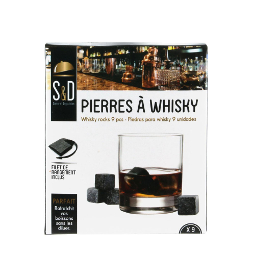 Lot de 9 pierres à Whisky en granit