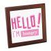 Dessous de plat personnalisé Hello