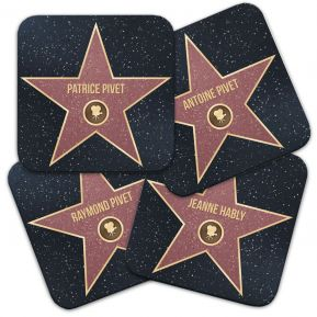 Sous-verre étoile du Walk of Fame