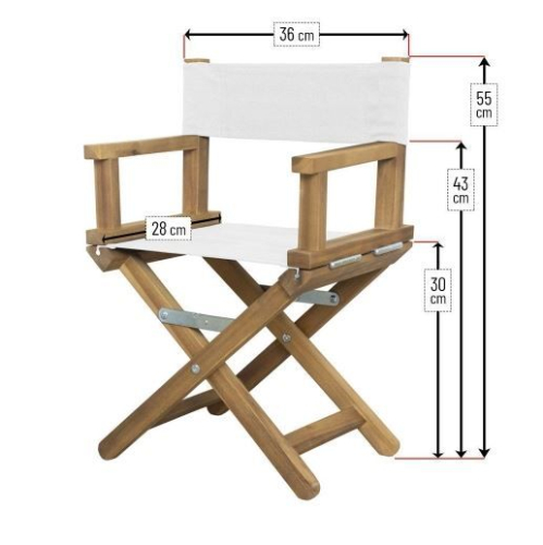 Dimension du fauteuil de metteur en scène bébé
