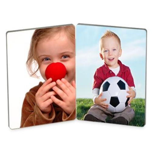 Double cadre bois imprimé photo