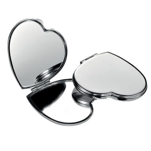 Miroir coeur gravé