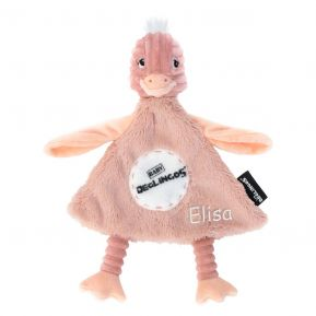 Doudou baby Pomelos l'autruche personnalisé