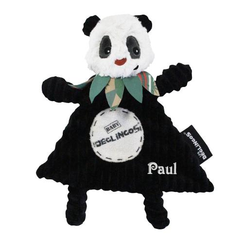 Doudou baby Rototos le panda personnalisé