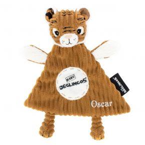 Doudou baby Speculos le tigre personnalisé