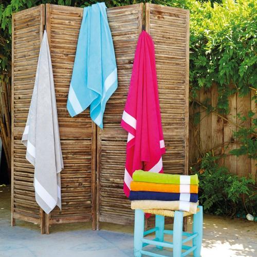 Une serviette de bain personnalisée