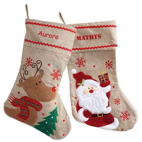 Chaussettes de Noël en lin