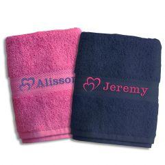 Duo de serviettes Saint Valentin
