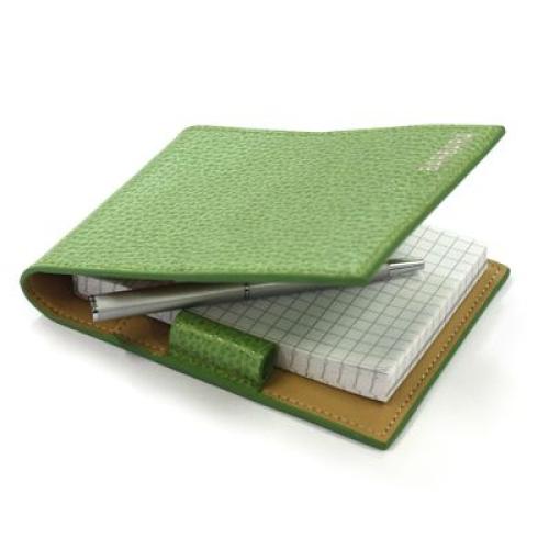 Couverture en cuir pour écritoire