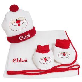Ensemble de Noël brodé pour bébé