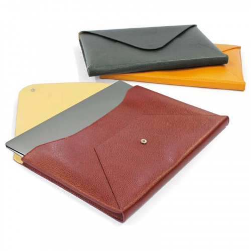 Enveloppe cuir protection mac book