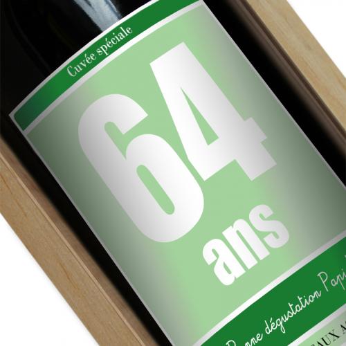Etiquette bouteille de vin personnalisée Anniversaire