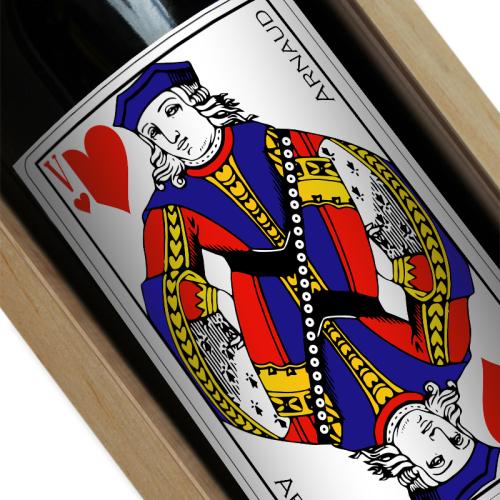 étiquette vin carte Valet de coeur