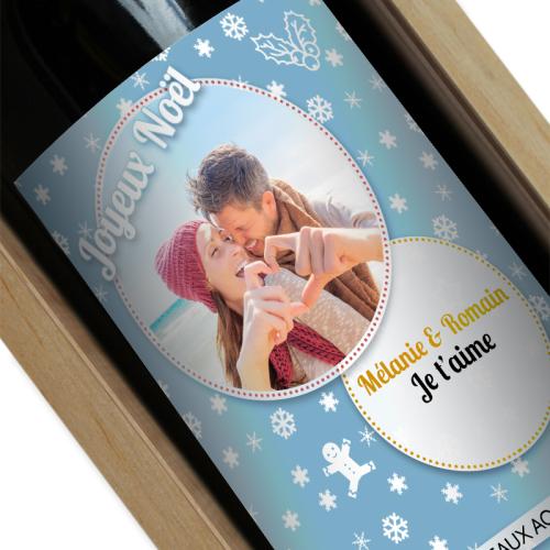 étiquette de Noël pour vin