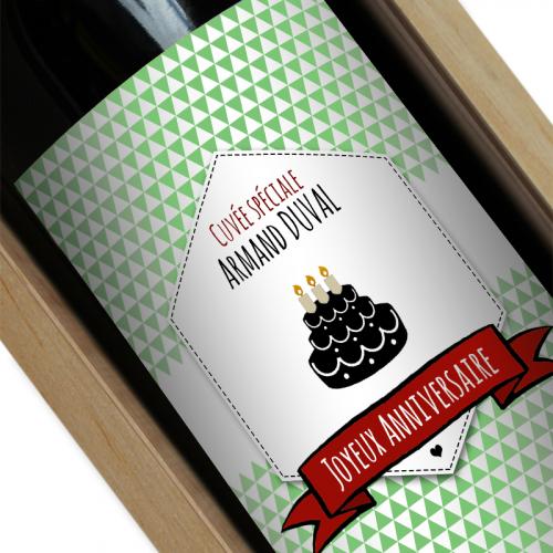 Etiquette bouteille de vin personnalisée Label