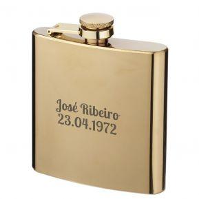 Flasque dorée personnalisée