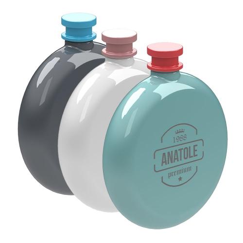 Flasque ronde color personnalisée avec un prénom
