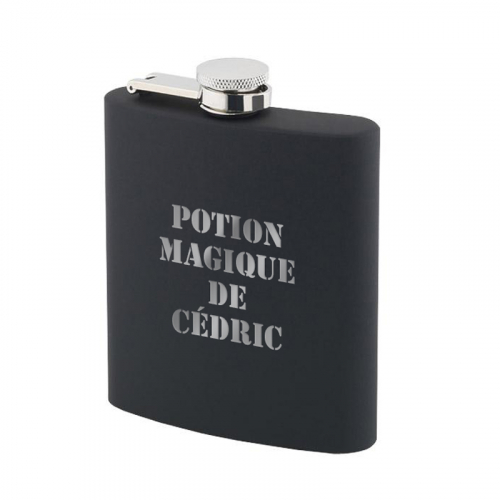 Flasque à whisky en silicone noir personnalisée