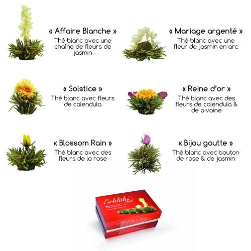 Fleurs de thé magique blanc