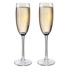 Flûtes à champagne papa et maman personnalisées