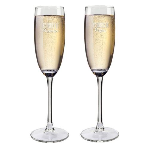 Flûtes à champagne papa et maman
