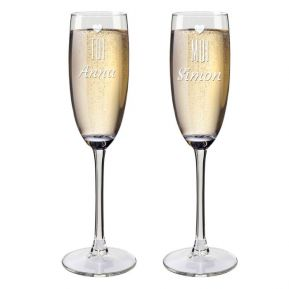 Flûtes à champagne duo personnalisées