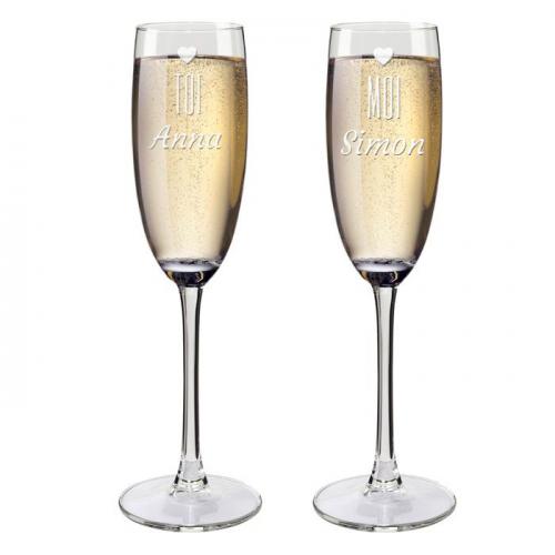 Flûtes à champagne personnalisées