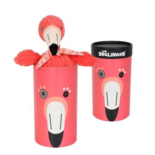 Peluche grand simply Flamingos le flamant rose avec boîte