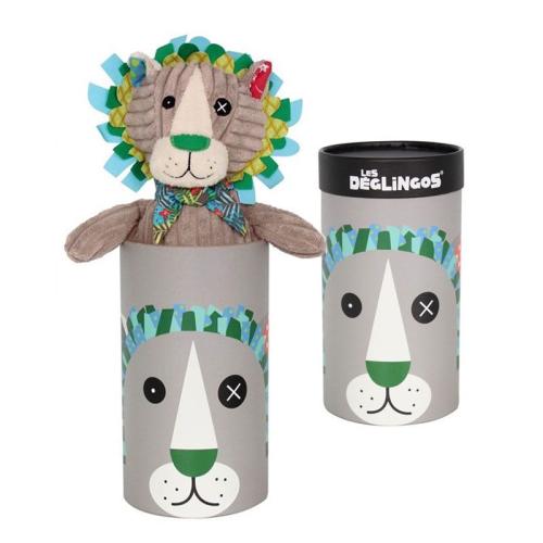 Peluche grand simply Jélékros le lion personnalisé dans sa boîte cadeau