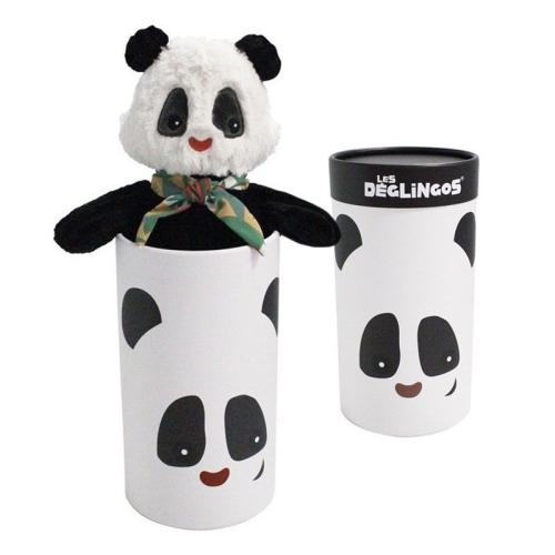Peluche grand simply Rototos le panda et sa boîte