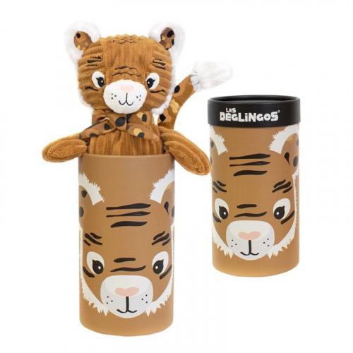 Peluche grand simply Speculos le tigre et sa boîte